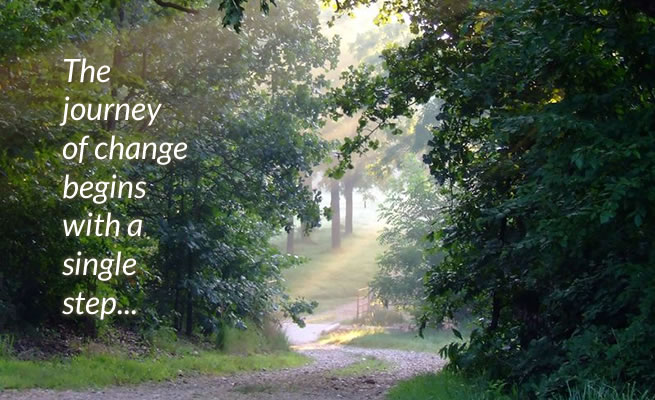 The journey of change begins with a single step...